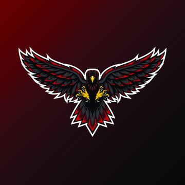 Eagle mascot for sport and esport or gamer team logo
