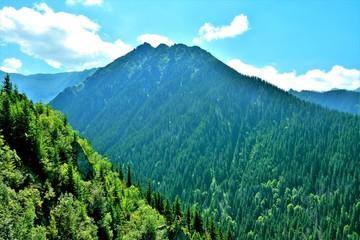 Foto op Plexiglas Blauwe jeans landscape of the Fagaras mountains Romania