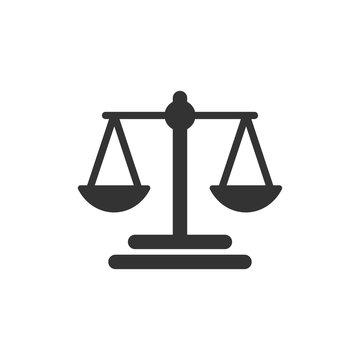 Scales icon vector Balance symbol illustration EPS 10