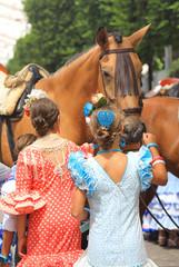 La pose en embrasure Palerme niños acariciando un caballo almería 4M0A6789-as19