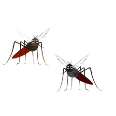 Two Flying Mosquitoes