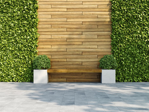 Decorative wooden wall