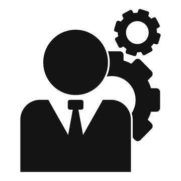 Administrator system icon. Simple illustration of administrator system vector icon for web design isolated on white background
