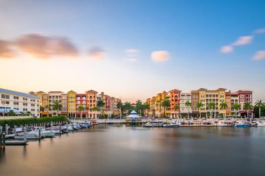 Naples, Florida, USA downtown skyline