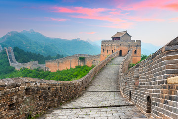 Foto op Canvas Chinese Muur Great Wall of China at the Jinshanling section.