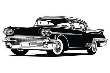 Fototapeta Classic vintage retro custom car image obraz