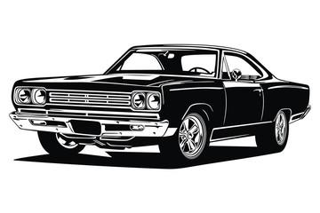 Classic vintage retro custom car image