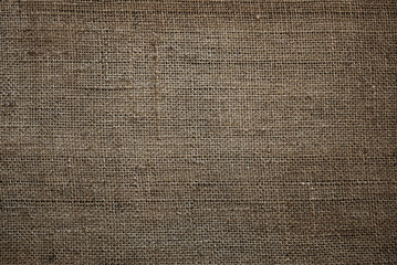 old sackcloth texture of jute fabric