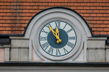 clock at the town hall