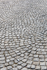 paving stones in the pedestrian area