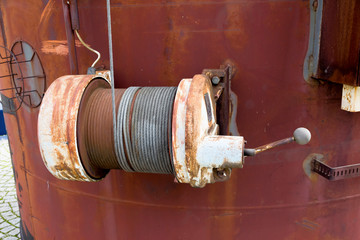 rusted winch