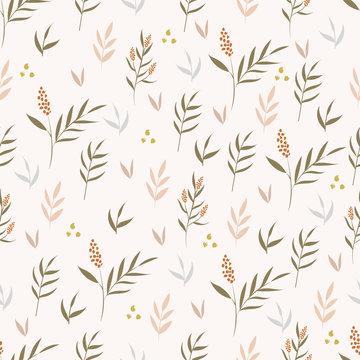 Botanical seamless pattern. Floral background