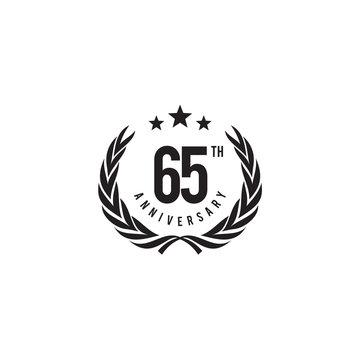 65th years celebrating anniversary emblem logo design