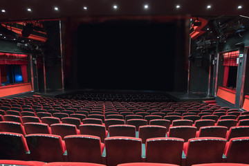 theater seats in empty interior