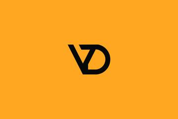 Initial D V Letter Logo Design Vector Template. Monogram and Creative Alphabet DV VD Letters icon Illustration.