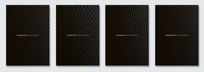 In de dag Abstract wave Vector abstract background, dark subtle creative wave patterns, geometric gradient texture. Deluxe Minimal pattern design. Modern Cover templates set.