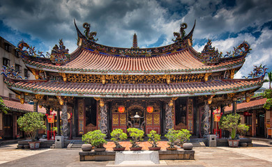 Canvas Prints Place of worship Longshan Temple in Taipei