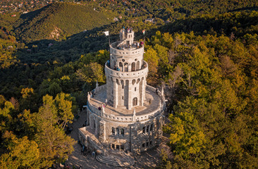 Aerial view on the Elizabeth Lookout in Budapest, Hungary