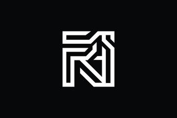 Initial RI IR modern monogram and elegant logo design, Professional Letters Vector Icon Logo on black background.