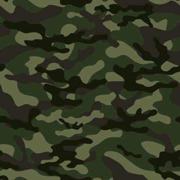 camouflage military green military seamless pattern. Vector