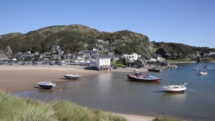 Wall Mural - Barmouth Gynnedd Wales harbour in north west welsh coast town in Gwynedd Snowdonia National Park UK