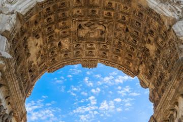 Rome, Lazio / Italy - March 20, 2016: Arch of Titus at the Roman Forum
