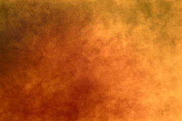 Abstract modern painting . Dry brush painted paper , canvas , wall . Textured background in orange , yellow and gray tones.