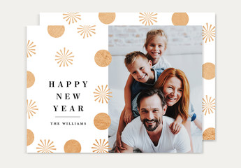 Happy New Year Card Invitation Layout