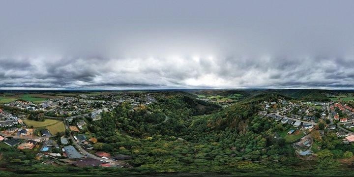 Nideggen Burg Panorama