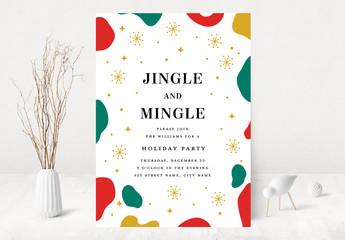 Jingle Holiday Party Invitation Layout