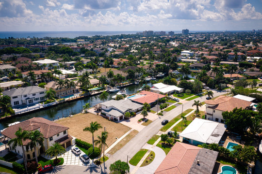 Aerial of Lighthouse Point Florida