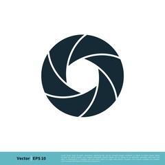 Shutter Lens Photography Icon Vector Logo Template Illustration Design. Vector EPS 10.