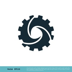 Gear Icon Vector Logo Template Illustration Design. Vector EPS 10.