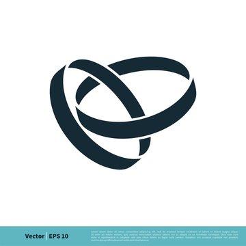Wedding Rings Icon Vector Logo Template Illustration Design. Vector EPS 10.