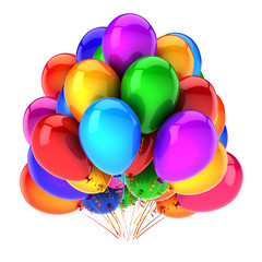 Colorful multicolored party balloons baloons bunch