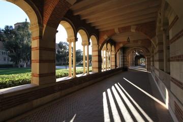 UCLA Royce hall corridor