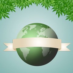 an illustration of green earth
