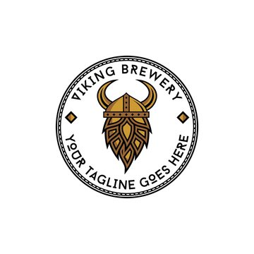 viking brewery badge  logo design