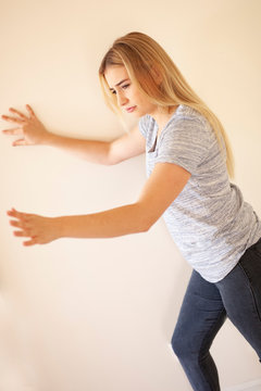 Vertigo, loss of balance, meniere's disease, holding wall