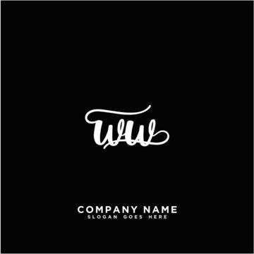 WW Initial handwriting logo concept