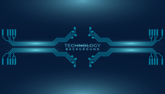 Abstract futuristic digital technology background. Circuit board design background. Vector illustration eps 10.  W