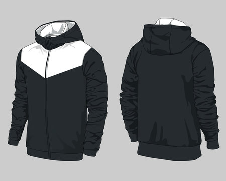 Sports jacket design winter sweater vector hoodie