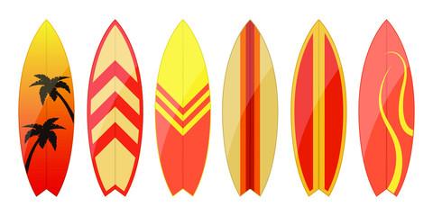 Surfboard vector design illustration isolated on white background