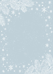 Christmas border. Vector frame of Christmas Background