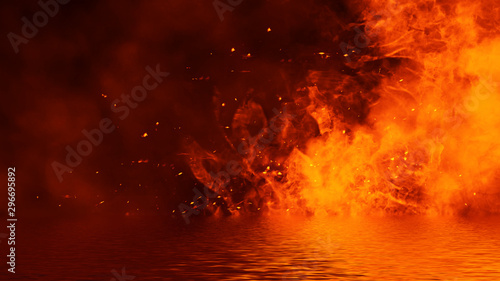 Realistic Isolated Fire Effect For Decoration And Covering