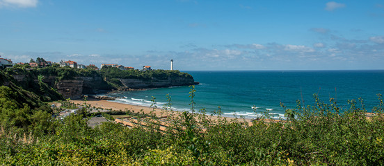 beach of Anglet with the ligthouse of Biarritz Fototapete