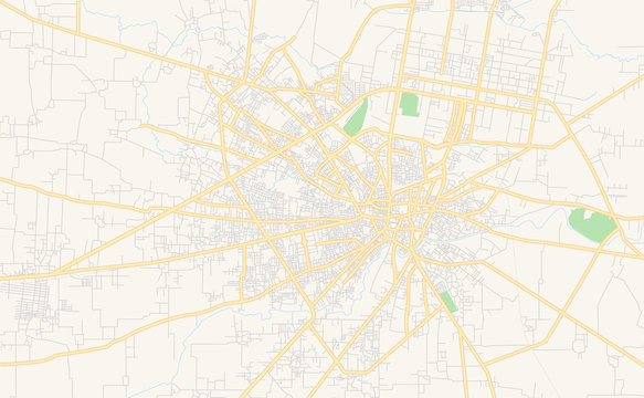 Printable street map of Sialkot, Pakistan