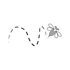 Bee icon Vector Illustration design Logo