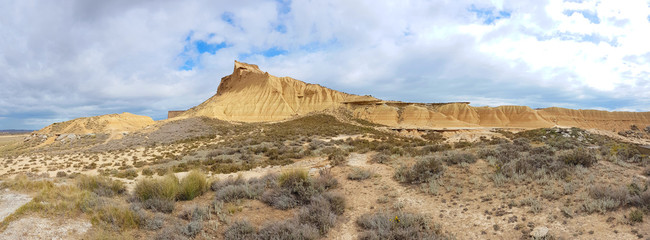 The Bardenas Reales is badlands or semi-desert natural region in the southeast of Navarre.