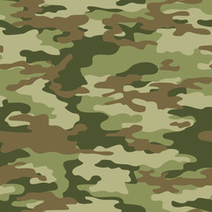 Army camouflage military seamless pattern. Vector print.